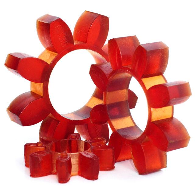 Amortizor pentru cuplaje mecanice tip stea