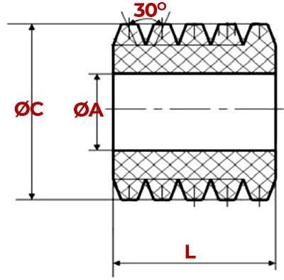 Schita amortizor bolturi din cauciuc poliuretanic - MAELVI